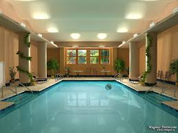 Beautiful Indoor Pool House Designs Spa And Interior Design Throughout Impressive Ideas