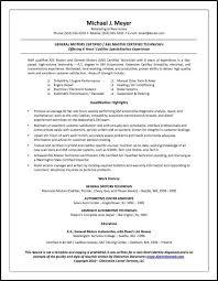 Sample Resume For Blue Collar Jobs Automotivetechnician