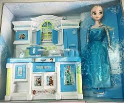 Bộ đồ chơi nhà bếp có nhạc đèn kèm búp bê Elsa