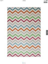 chevron multi colored rug white turquoise grey orange green red