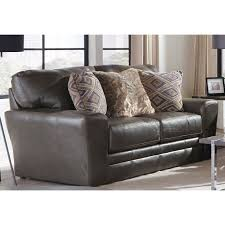 classic steel gray leather loveseat denali