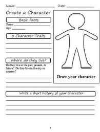 character analysis graphic organizers kaylee s education studio picture