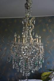 Antiker Wiener Kristall Lüster Kronleuchter Lampe Ebay