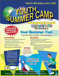 flyers orlando summer camp flyer template business