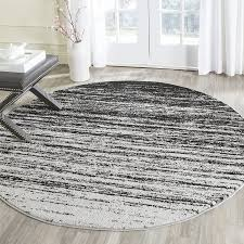 6 new synthetic safavieh adirondack collection adr113a silver and black round area rug pn1348
