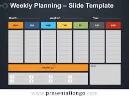 Planning A Presentation Template Weekly Planning For Powerpoint And Google Slides
