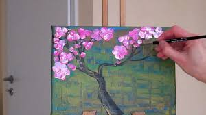 tanja bell how to paint cherry blossom tree painting tutorial lesson technique pink white blossom you