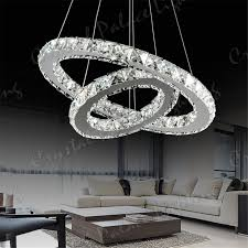 ring led modern crystal chandelier ceiling pendant lighting regarding amazing home crystal ring chandelier decor