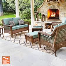 wicker outdoor dining set. Lovely Wicker Outdoor Dining Sets The Home Depot Logo Set