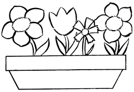 Small Picture Shining Flower Vase Coloring Page Easter Flower Coloring Pages