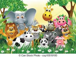 group of animals clipart. Interesting Animals Vector Illustration Of Cartoon Group Clipart Wild Animal Jpg Freeuse  Download And Of Animals Clipart N
