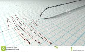 Chart Marking In Polygraph Polygraph Needle And Drawing Stock Illustration
