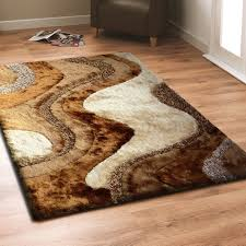Brown Shag Rug with Beige Living Room Area Rug By Rug Addiction