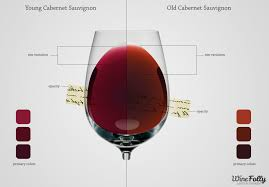 wine aging chart learn the secrets of each red wine color wine folly