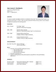College Student No Experience Ojt Resume Sample Resume For Ojt Cb