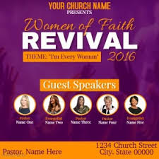 church revival flyers customizable design templates for church conference postermywall