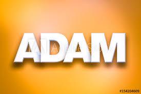 Adam Theme Word Art on Colorful Background Stock Illustration ...