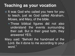 teaching as your vocation mission and profession teaching