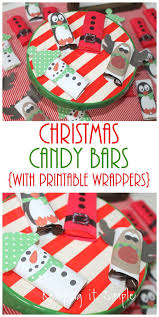 Give thanks to someone special in your life. Easy Christmas Treat Candy Bars With Printable Wrappers Keeping It Simple