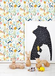 Zelfklevend Behang Kinderkamer Bloemen 60x122 Cm Tapetshow