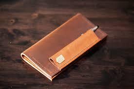 handmade bespoke leather checkbook cover