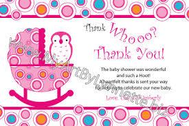 Owl Baby Shower Invitation Custom Easily Personalize Owl Baby Owl Baby Shower Thank You Cards