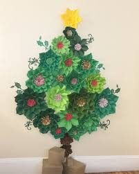Paper Flower Christmas Tree Paper Flowers 6ft Christmas Tree Paper Flower Tree Paper Etsy