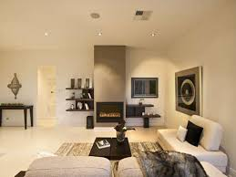 Modren Cozy Modern Living Room With Fireplace Furnishings And