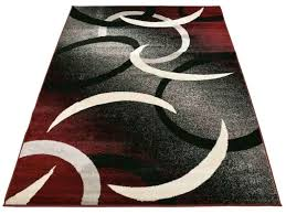 red black white gray abstract circles design area rugs door mat for rug and