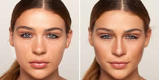 give your nose a slimmer look with makeup
