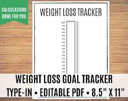 Weight Loss Tracker Printable Weight Loss Thermometer Weight
