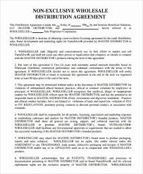 Non Exclusive Distribution Agreement Template Investment Agreement