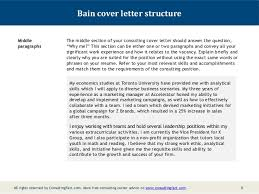 It Consultant Cover Letters Bain Cover Letter Omfar Mcpgroup Co