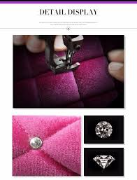 purple short plush rhinestone covered warm women fashion car seat covers handbrake car accessories for autumn winter