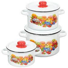 <b>Набор эмалированной посуды</b> СтальЭмаль Варенье 1с144 ...