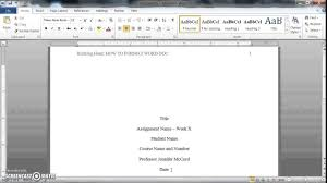 How To Do Apa Format In Word How To Format A Word Doc For Writing An Apa Style College