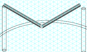 Isometric Pipe Design Trying To Make A Bent Pipe On Isometric Plane Graphic