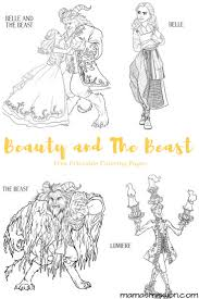 Small Picture Beauty and the Beast Coloring Pages Free Printables