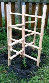 homemade tomato plant supports sy and free standing trellis support garden bamboo cage diy homem