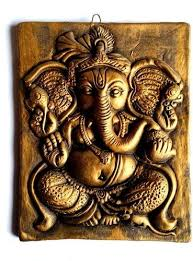 decorative terracotta ganesh ganpati wall hanging on ganesh 3d wall art with decorative terracotta ganesh ganpati wall hanging at rs 500 piece