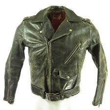 50s horse hide leather marlon brando jacket h94j