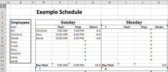 employee availability template excel excel staffing model free template