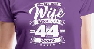 wedding day 44th anniversary gift wife spouse women s premium t shirt spreadshirt