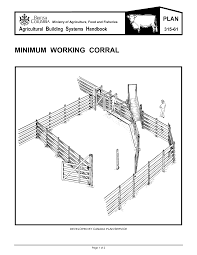 Sheep Corral Design Minimum Working Corral Canada Plan Service Agricultural