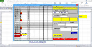 Excel Kalender 6_terminkalender In Excel Selber Erstellen Kalender Für Gewünschtes