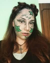 simple poison ivy makeup idea