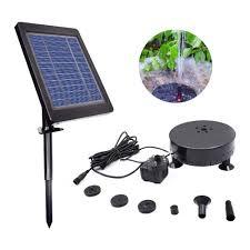 Solar Water Pump Kit With Led Lights Amazon Com Goglor Solar Fountain Pump 3 5w Upgraded Solar