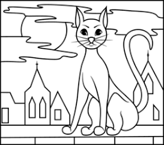 Small Picture Black Cat Coloring Page Printables Apps for Kids
