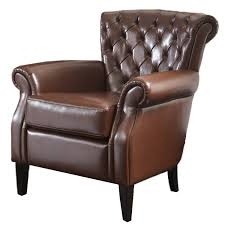 com best ing franklin bonded leather club chair brown kitchen dining
