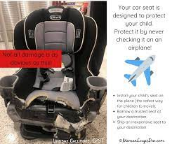 how to take car seats on an airplane